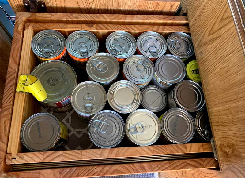 Dual Drawer Cans Top Drawer