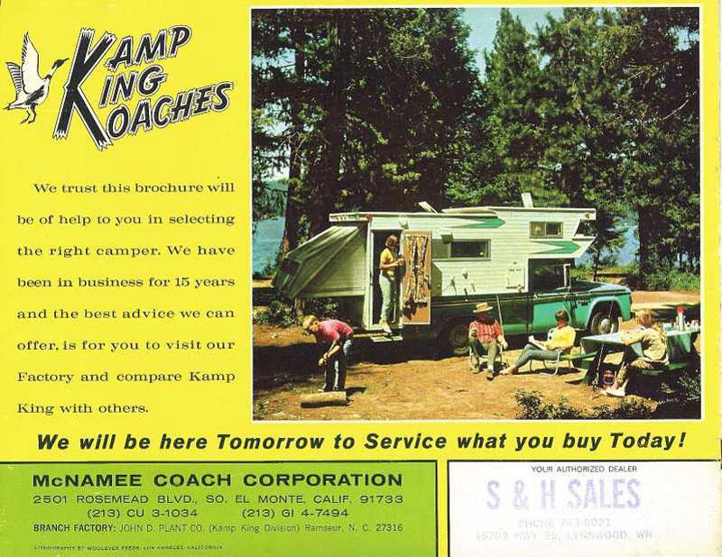 Kamp King Camper Brochure