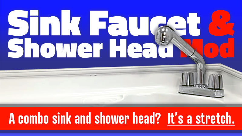 Combination sink faucet and shower head for a RV