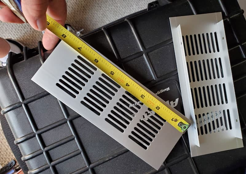 Vents For Cabinets Measuring