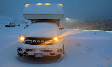 Northern Lite Camper Buried In Snow