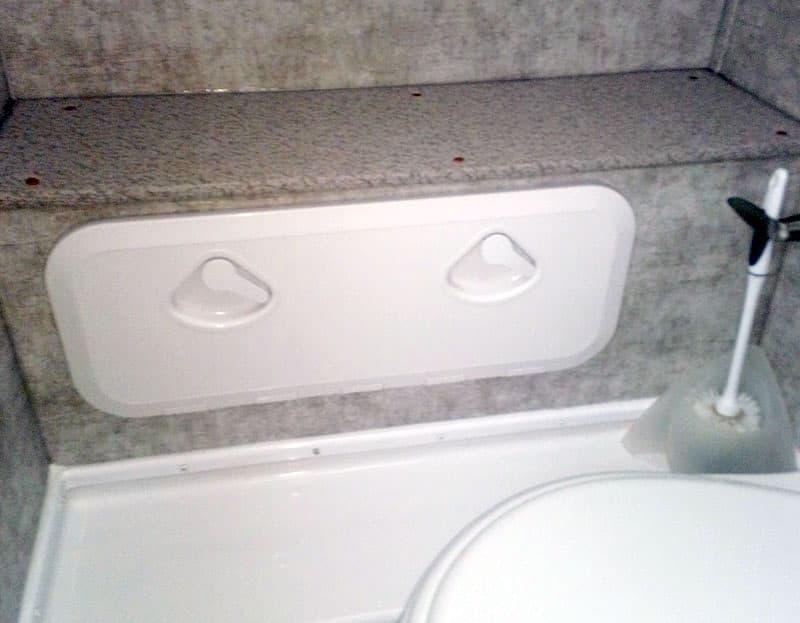 Bathroom Storage Access Door Closed