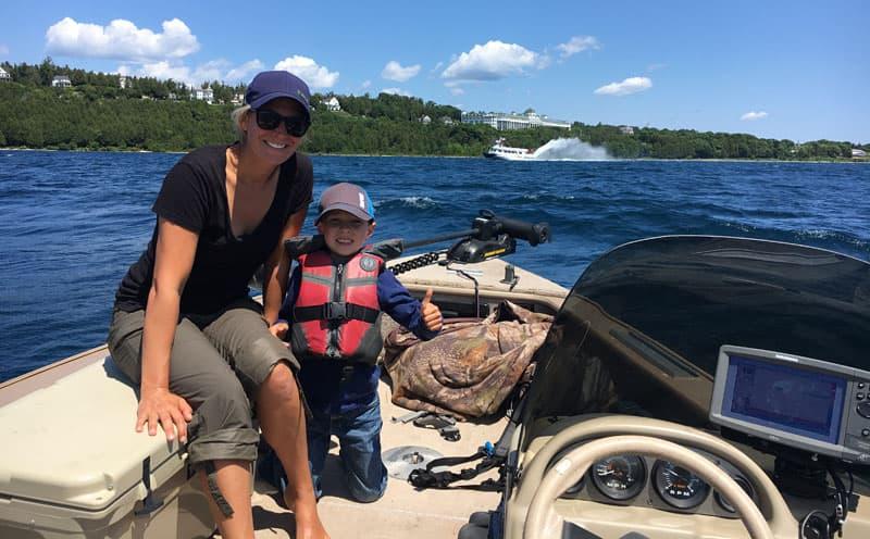 Boating Near Mackinaw Island