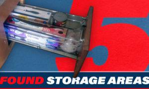 Five Found Storage Areas