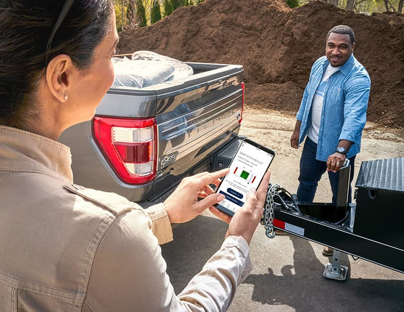 Ford Scales FordPass App Hitch Outside
