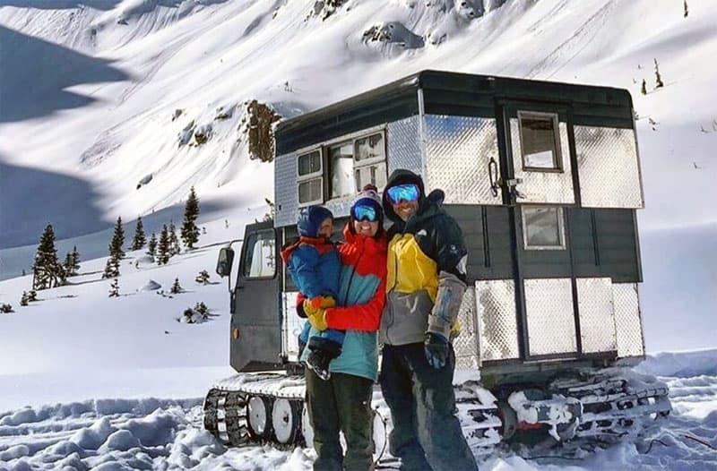 Holgate Family And Alaskan On Snowcat