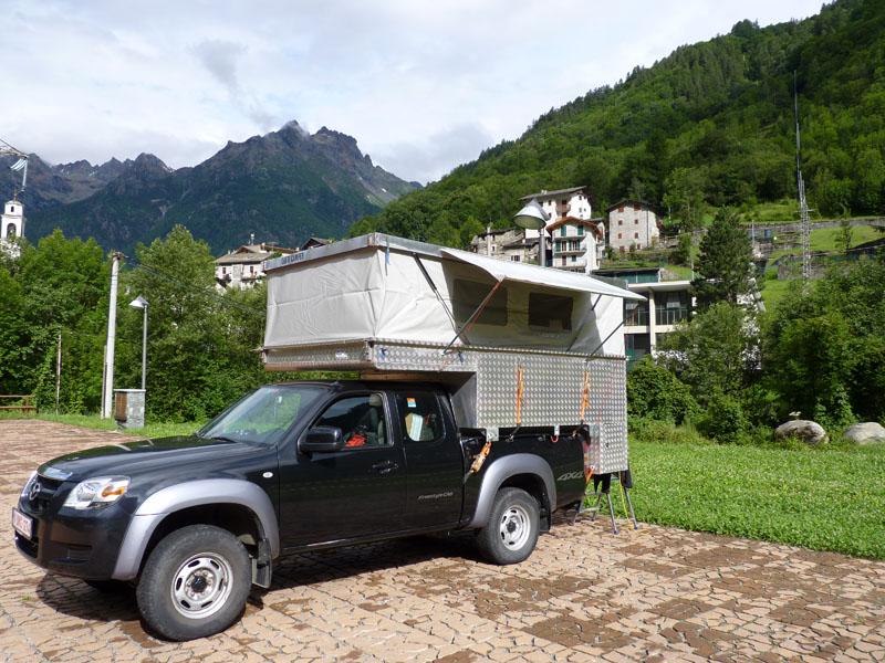 Lanzada dans la Valmalenco campsite in Italy