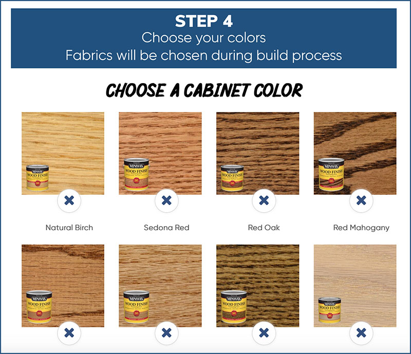 Phoenix Custom Wood Stain Choices