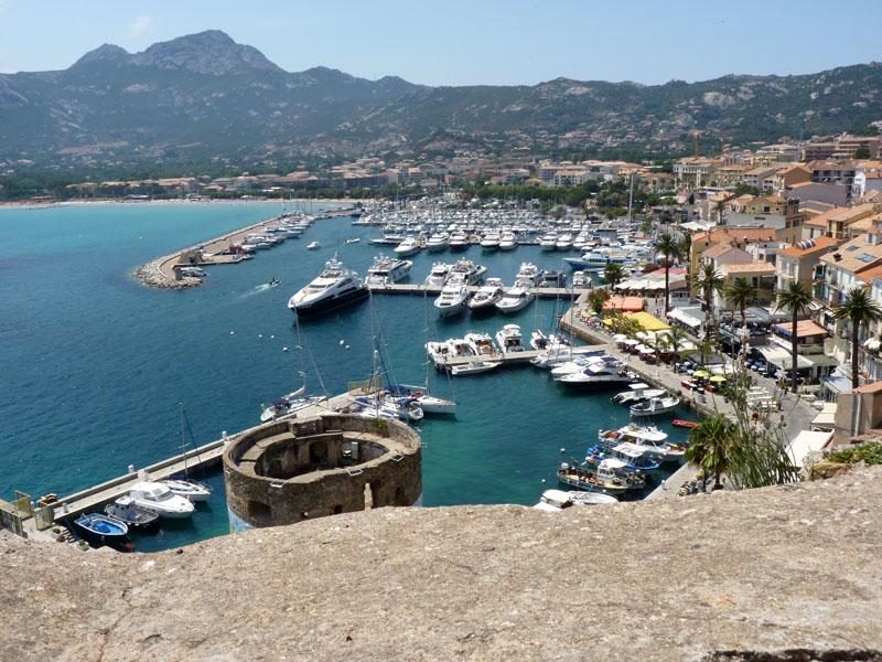 Port Of Calvi In Balagne Corsica