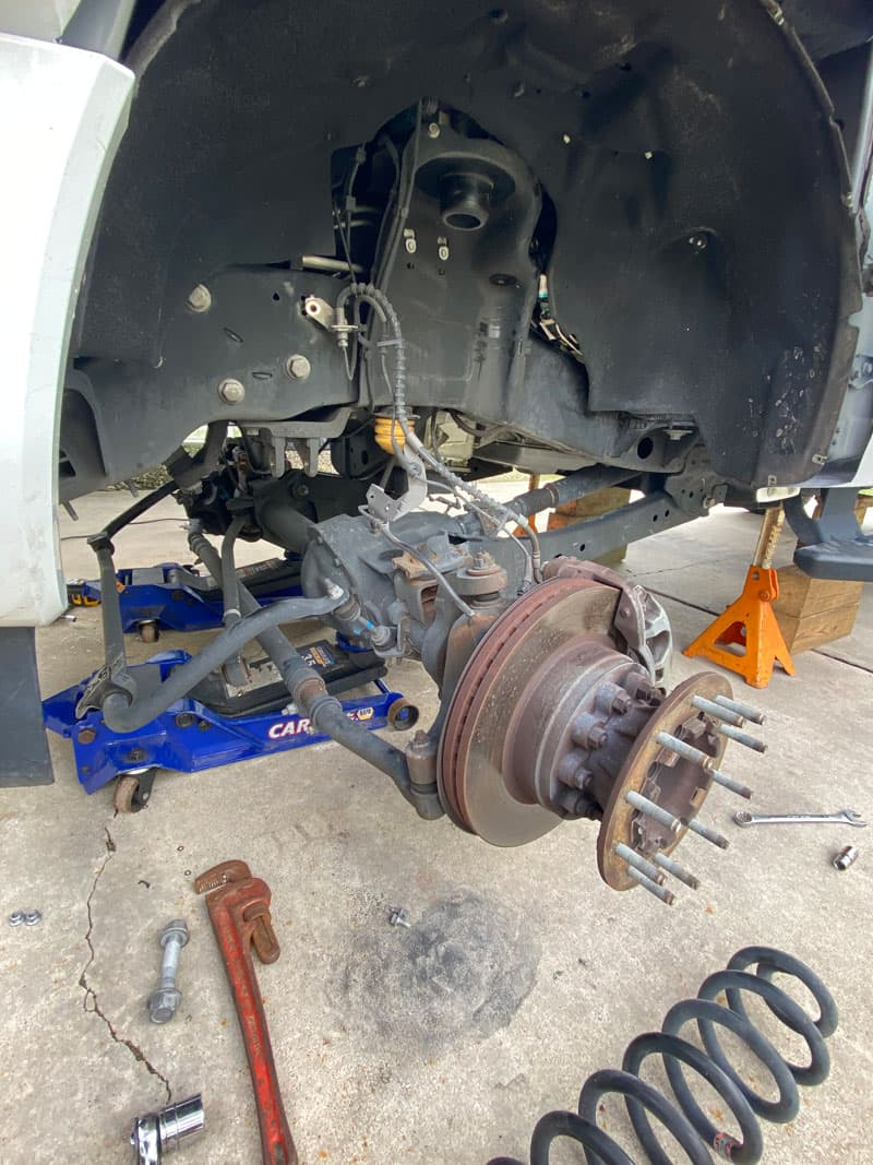 Readylift Spring Spacer On The Front