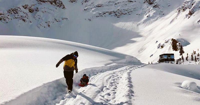 Sledding Snow Winter Wonderland Colorado