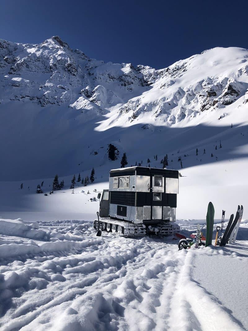 Snowcat In The Colorado Mountains