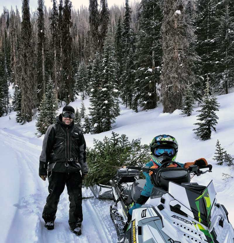 Snowmobile Winter Colorado Camping