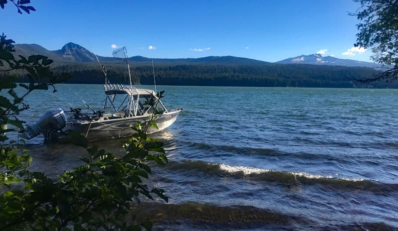 Boat Off Our Campsite On Odell Lake