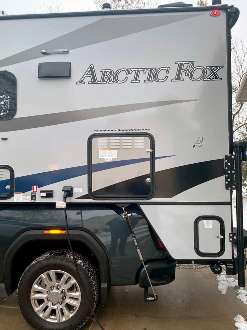Arctic Fox Propane Compartment Outside Door