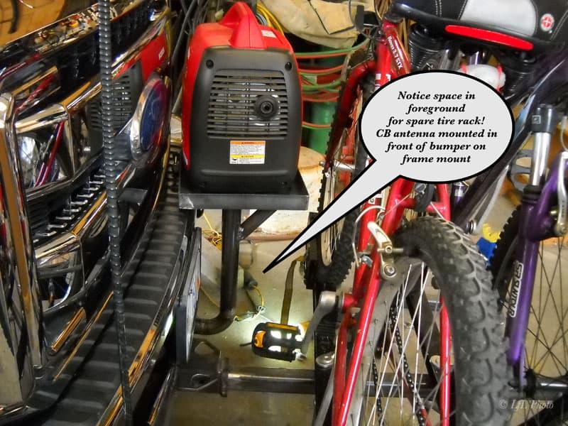 Bike Generator Tire Rack Gap 20