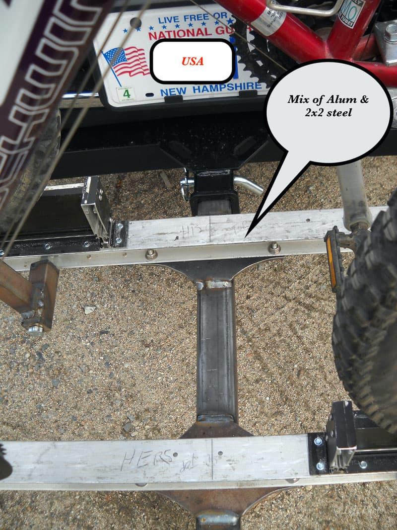 Bike Rack Aluminum And Steel