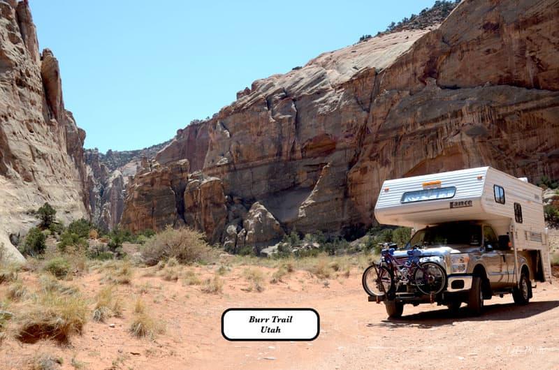 Burr Trail In Utah With Bike Rack