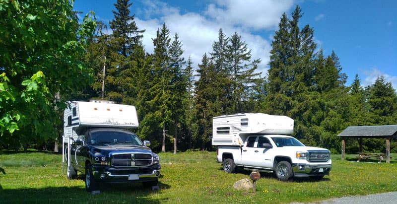 Camping With Truck Camper Friends
