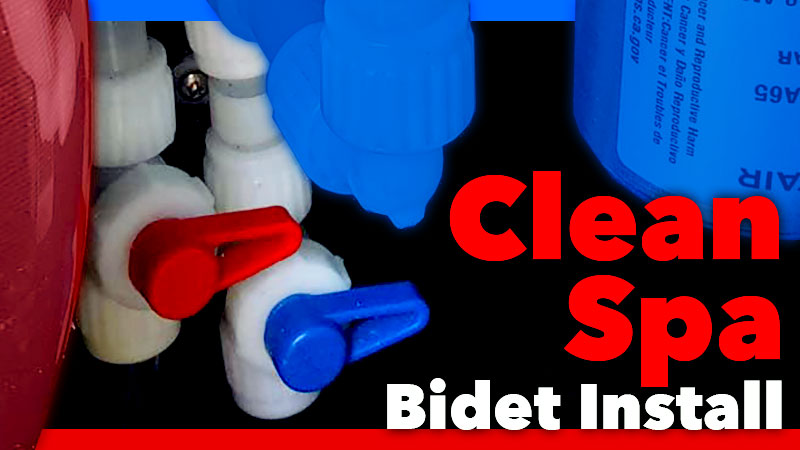 Clean Spa Bidet Install RV