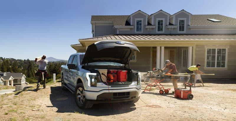 Ford Lightening Trunk Storage