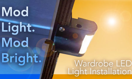 LED Wardrobe Light Install