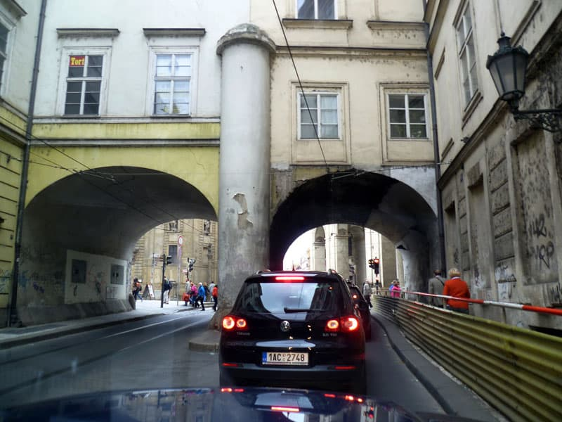 Narrow Bridge In Prague, Czechia