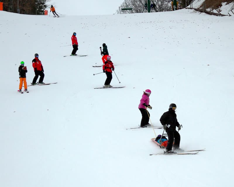 Skiing Practice And Teaching