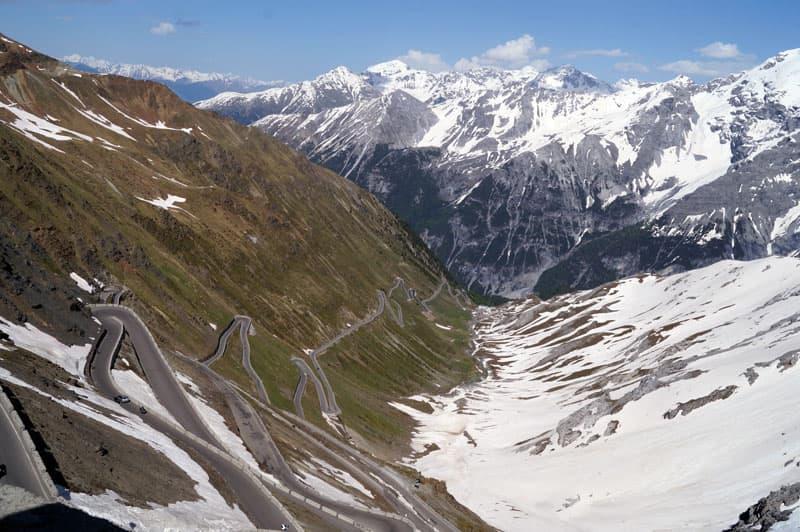 Stelvio Pass Between Switzerland And Italy