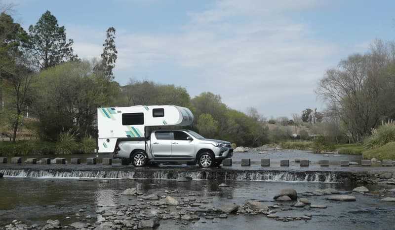 Toyota Hilux And Silfred Motor Homes Traveling Around Argentina