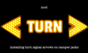 Turn signal arrows for Camper Jacks