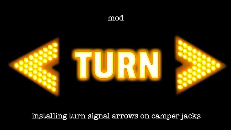 Turn signal arrows for Camper Jacks