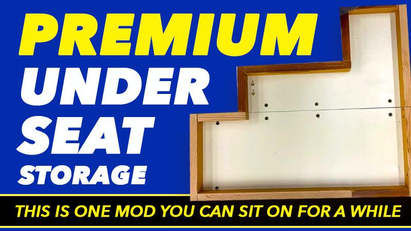 Under Camper Seat Storage Solution