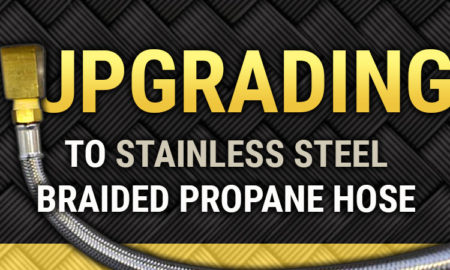 Stainless Steel RV Propane Hose Upgrade