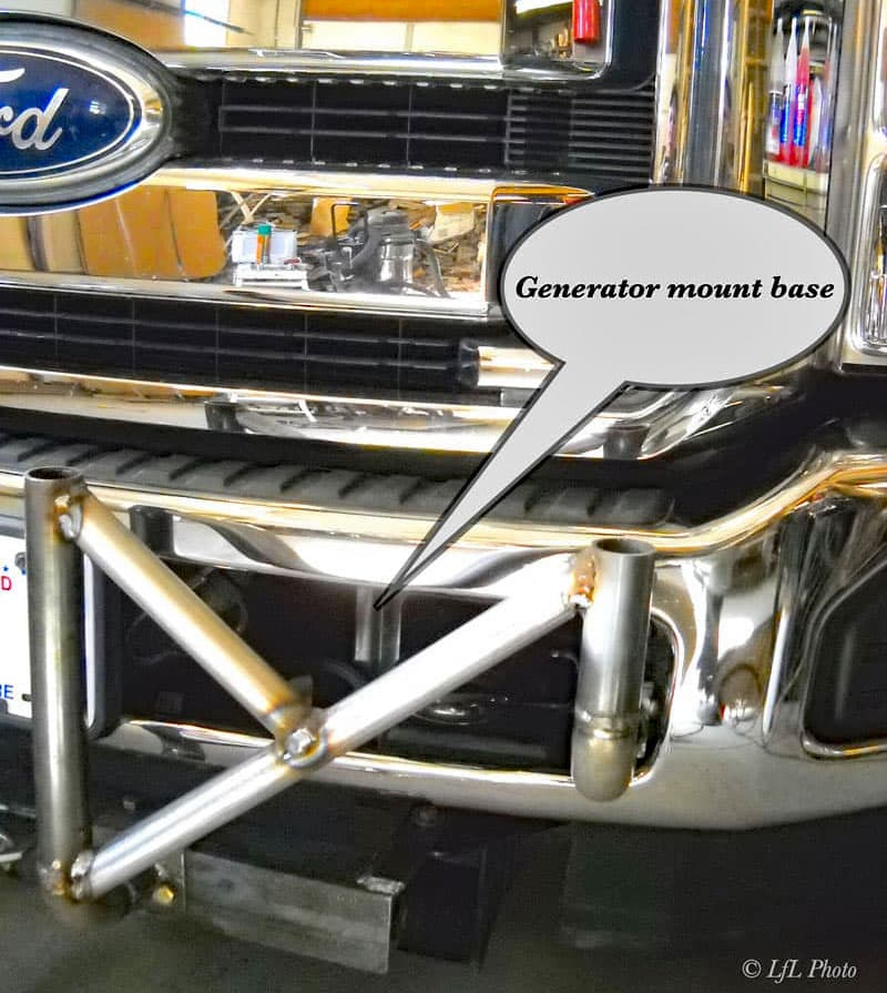 Generator Mont Base On Ford Truck