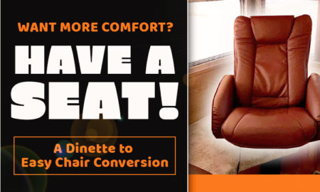 Camper Dinette to Easy Chair Conversion