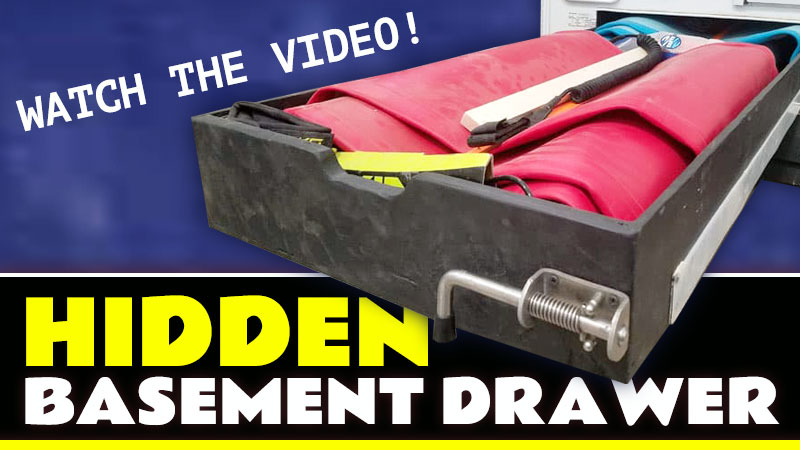Hidden Camper Basement Drawer