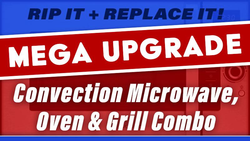 RV Camper Microwave Upgrade