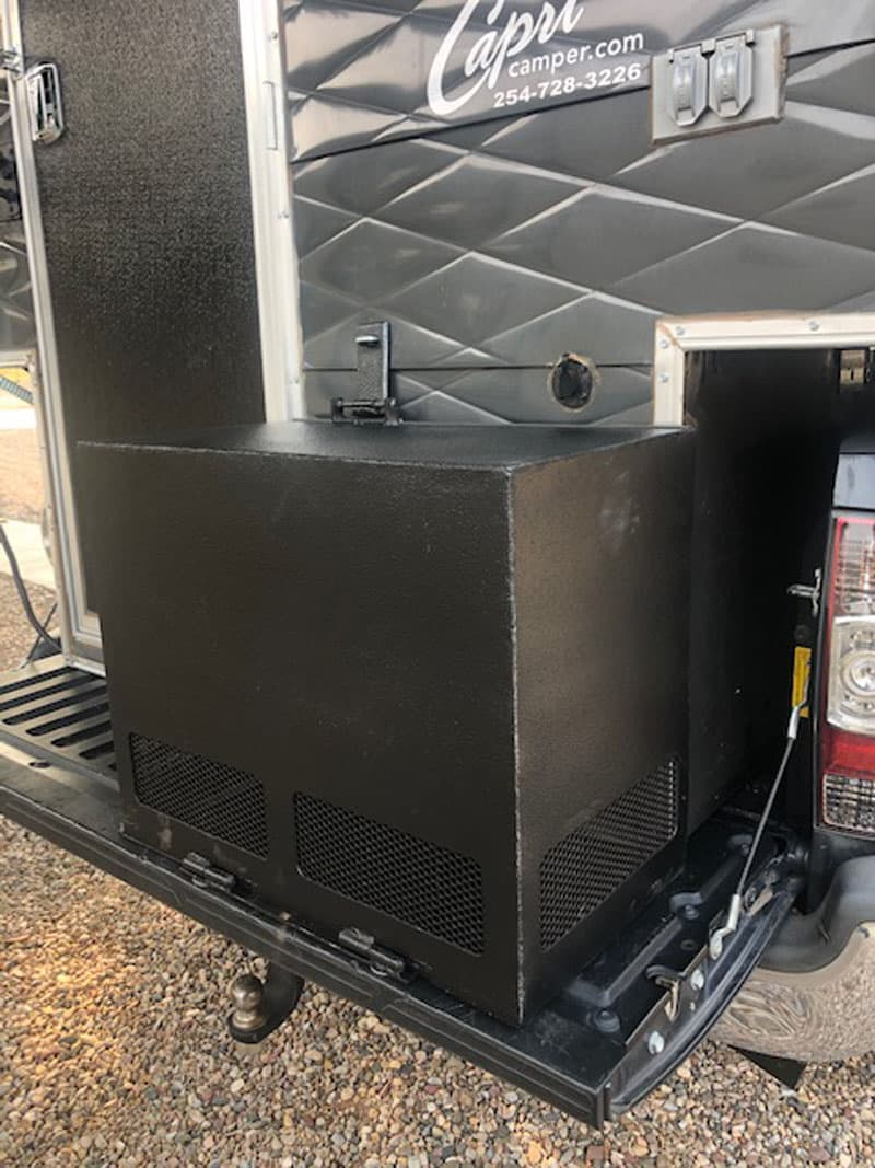 Generator gives more power to a small camper