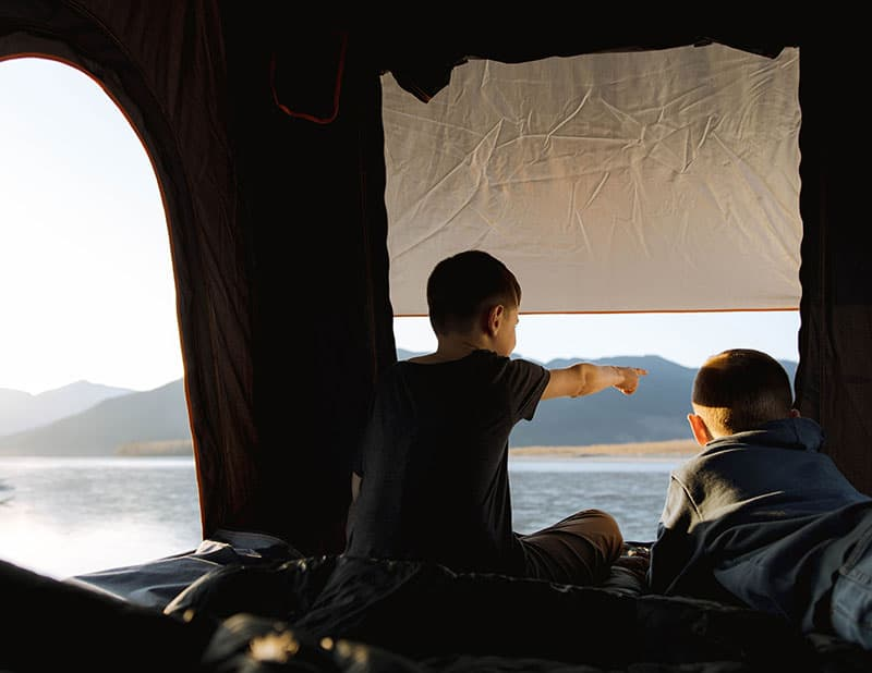 Scout Kenai Kids In Rooftop Tent