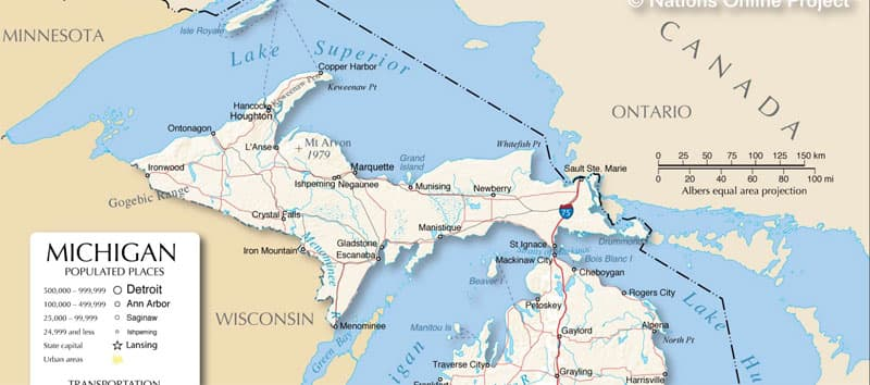 UP Michigan NationsOnline