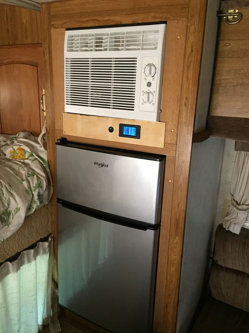 Wall Mounted Air Conditioner And Refrigerator Finished