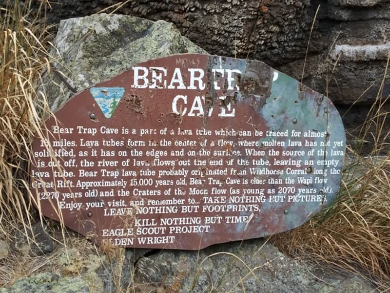 Bear Trap Cave Craters Of The Moon