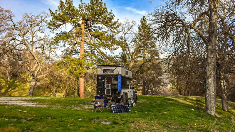 Camping With Portable Solar Panel