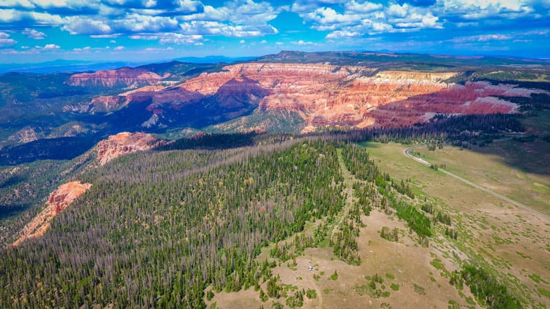 At 10,624 feet with Cedar Breaks in the distance