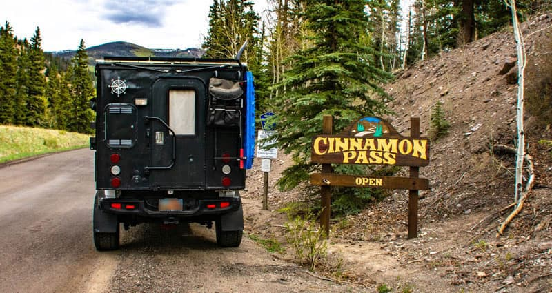 Cinnamon Pass With Pickup Camper