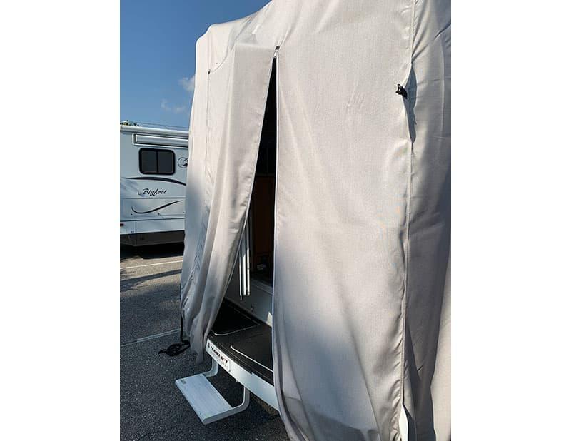 Covercraft Camper Cover Door Open