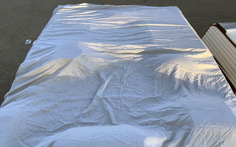 Covercraft RV Custom Cover Careful Roof Walking 1