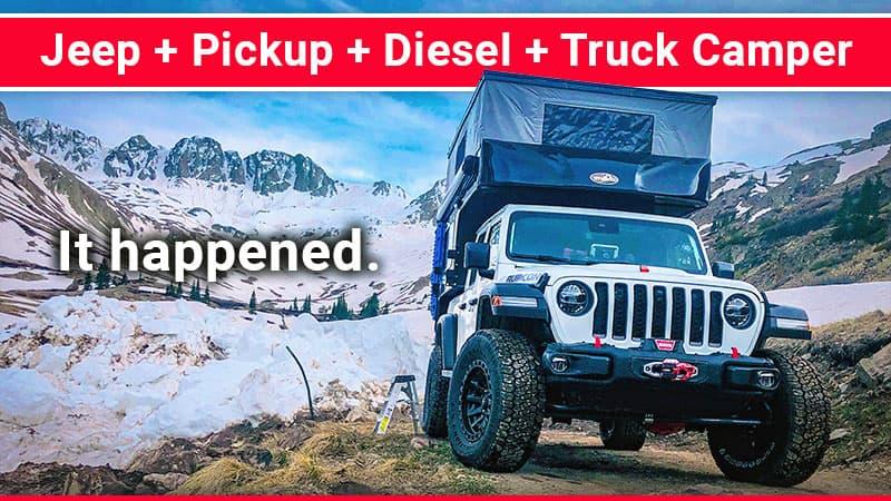 Diesel Jeep Gladiator Pickup Camper