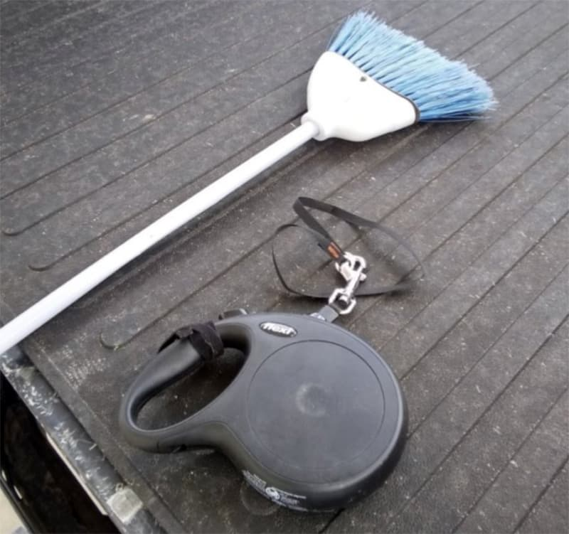 Dog Leash And Broom Loading Left